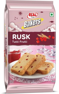 Real Bakers Tutti Frutti Rusk Fruit flavored Cake Rusk(200 g)