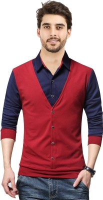 JUGULAR Color block Men Polo Neck Multicolor T-Shirt
