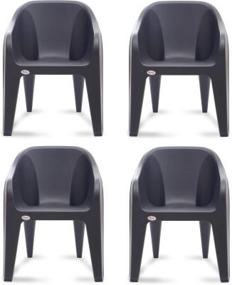 Supreme Futura Plastic Outdoor Chair(Finish Color - Black)