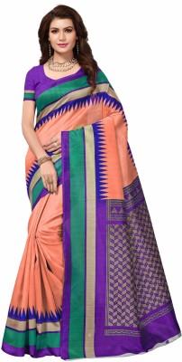 Miraan Printed Fashion Art Silk Saree Pink Miraan Women's Sarees