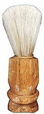 GLAN , Saloon And Home Use Accessories For Men And Boys, Brown White Shaving Brush