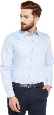 Hancock Men's Solid Formal Light Blue Shirt