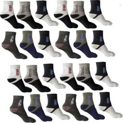 APPALON Men & Women Color Block Ankle Length(Pack of 12)