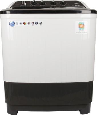 Lloyd 8 kg Semi Automatic Top Load Washing Machine White, Black(LWMS80GDB) at flipkart