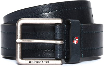 U.S. Polo Assn. Men Casual Blue Genuine Leather Belt