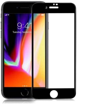 Richuzers Edge To Edge Tempered Glass for Apple iPhone 8 8G Genuine 9H Shield Glass(Pack of 2)