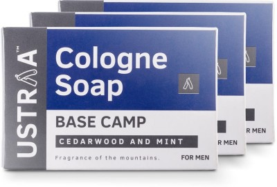 Ustraa Base Camp Cologne Soap with Cedarwood & Mint(3 x 125 g)