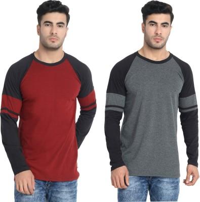 LALAN TOP Color Block Men Round Neck Multicolor T-Shirt(Pack of 2)