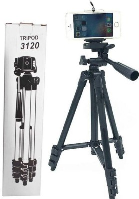 Zeom ™ Perfect 3120 Tripod 3-Way Head | Best Quality | 360° horizontal and 90° vertical swivel with 3-way head | self-aligning metal quick-flip leg locks | Quick release leg lock | Non-slip rubber feet | Grip for adjusting head position | Lightweight and portable | Quick release head for easy connec 1