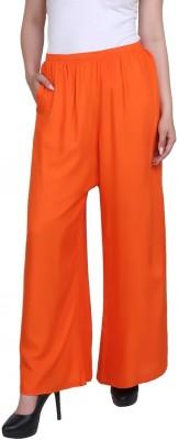 Shyaamla Relaxed Women Orange Trousers