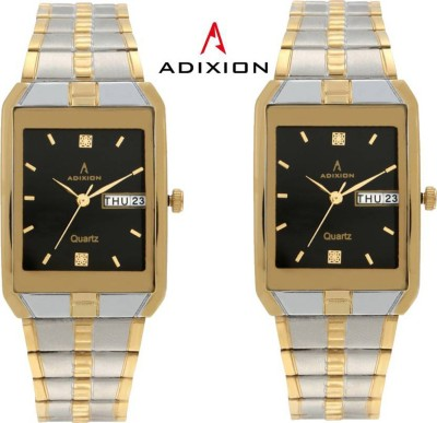 ADIXION 9151BM0101 Day And Date Steel Gold Pleating Analog Watch  - For Men