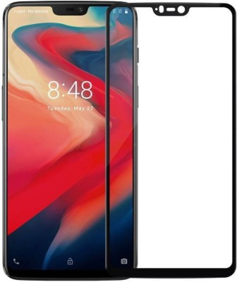 KMP POWER Edge To Edge Tempered Glass for OnePlus 6(Pack of 1)