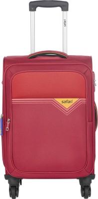 SAFARI TRIGON 55 4W RED Expandable Cabin Luggage   22 inch SAFARI Suitcases