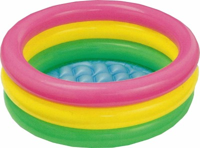 Smiley India inflatable kids bath tub 3ft,multicolor Inflatable Pool Accessory(Multicolor)