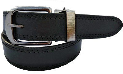 FOREVER99 Men Formal Black Texas Leatherite Belt