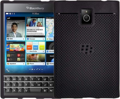 VAKIBO Back Cover for BlackBerry Passport(Black, Grip Case)