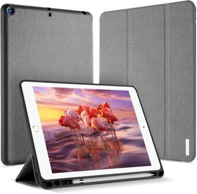 Vodex Flip Cover for Apple iPad 9.7inch 2018 II Apple iPad 9.7inch 2017(Grey, Grip Case)