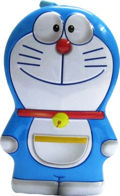Gift Collection Doraemon Design Coin Bank, Piggy Bank. Made Of Steel.Comes With Lock & Key - Blue Coin Bank Coin Bank(Blue)