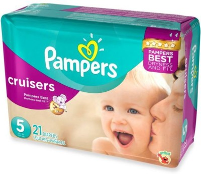 Pampers 123   S   M 21 Pieces Pampers Baby Diapers