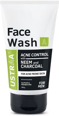 Ustraa Face Wash Acne Control - With Neem & Charcoal Face Wash(100 g)