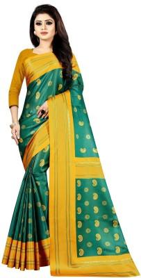 Active Digital Prints Fashion Satin Saree(Yellow)