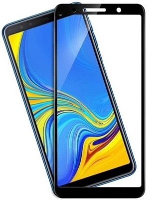 9H Edge To Edge Tempered Glass for Samsung Galaxy A7 (2018) (6D Full Glue Tempered Glass)(9H Tempered Glass)(Pack of 1)