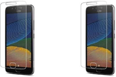 Mudshi Tempered Glass Guard for Motorola Moto G5 Plus(Pack of 2)
