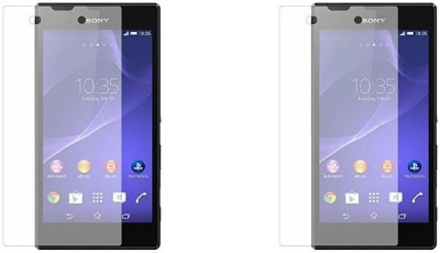 MudShi Tempered Glass Guard for Sony Xperia M2 Aqua(Pack of 2)