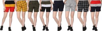 69GAL Printed Women Multicolor Regular Shorts