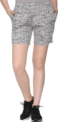 69GAL Printed Women Grey Regular Shorts