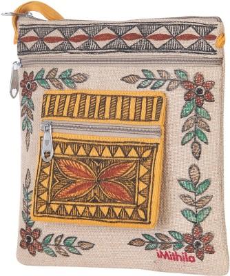 iMithila Beige Sling Bag