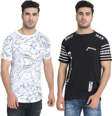 LALAN TOP Printed Men Round Neck Multicolor T-Shirt(Pack of 2)