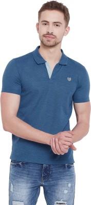 Duke Solid Men Polo Neck Blue T Shirt