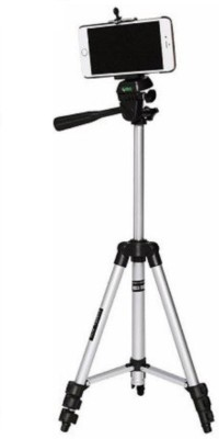Zeom ™ Tripod-3110 Portable Adjustable Aluminium High Quality Lightweight Camera Stand With Three-Dimensional Head & Quick Release Plate Tripod(Silver, Black, Supports Up to 1500 g) Tripod(Black, Silver, Supports Up to 1500 g) 1