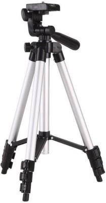 Zeom ™ 3110 Tripod 105 Cm Long Gopro/Dslr/Mobile Tripod - Super Light Universal Travel Tripod(Black, Silver, Supports Up to 1500 g) Tripod(Black, Silver, Supports Up to 1500 g) 1