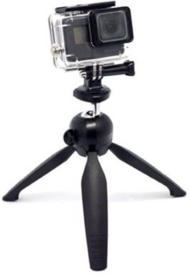 EWELL Mini tripod YT-228 Mount + Phone Holder Clip for Mobile Phones and Digital Camera Tripod Tripod(Black, Supports Up to 1000 g) 1