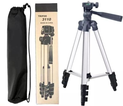 casadomani Tripod 3110 | 3-Way Head, Built in Level, Aluminium Legs, Quick Lever Lock Mini Tripod for phone and camera | Foldable Tripod Stand for Mobile Camera, DSLR, Smartphone & Action Cameras | Grip for adjusting head position | Lightweight and portable | Quick release head for easy connecting t 1
