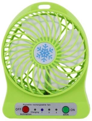 BAGATELLE usb fan Desktop Fan Battery and USB Charge Cable Mini Fan USB Fan Green