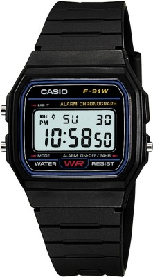 Casio D002 Youth Digital ( F-91W-1Q ) Digital Watch  - For Men & Women
