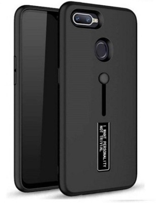Cover Alive Back Cover for Oppo F9(Black, Shock Proof)