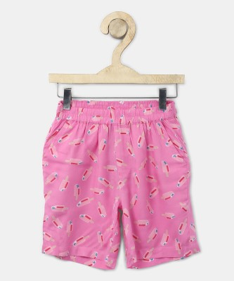 Miss & Chief Short For Girls Casual Printed Cotton Blend(Multicolor, Pack of 1) at flipkart