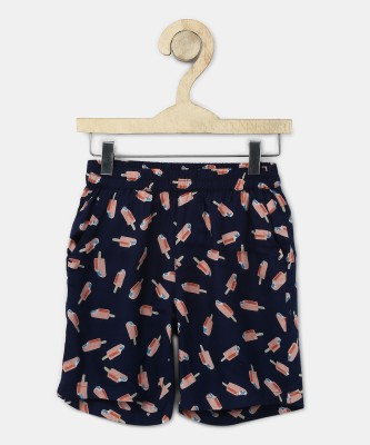 Miss & Chief Short For Girls Casual Printed Lycra Blend(Multicolor, Pack of 1) at flipkart