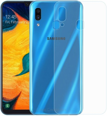 Case Creation Ultra Thin New Slim Fit 3M Clear Transparent 3D Crystal Clear Back Skin Rear Screen Guard Protector Sticker Protective Film A64 Samsung Galaxy A30 (2019) Mobile Skin(3D Real Transparent Skin Glossy Finish)
