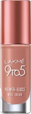 Lakme 9 to 5 Primer + Gloss Nail Color Nude Flush