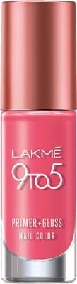 Lakme 9 to 5 Primer + Gloss Nail Color Rose Crush