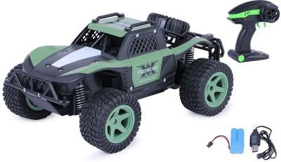 Zest 4 Toyz 1:20 Scale Racing High Speed 25 Km/H Remote Control Car Rock Crawler R/C Car(Green)