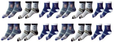Your Shopping Store Men Striped Ankle Length(Pack of 12)