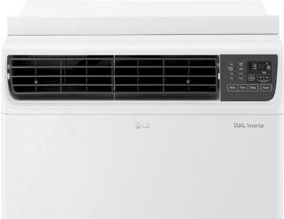 LG 1.5 Ton 3 Star Window Dual Inverter AC   White   JW Q18WUXA1, Copper Condenser
