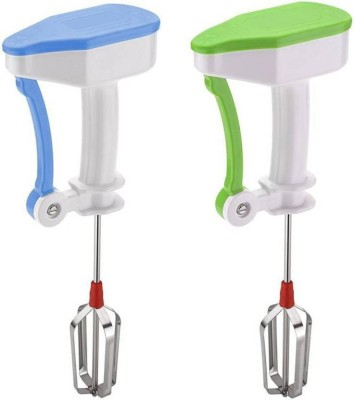 Pitambara Pack of 2 Plastic Hand Blender and Beater 0 W Hand Blender(Multicolor)