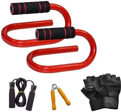 ARRUNS COMBO12- Push UP BAR with Fitness Accessory Gym & Fitness Kit